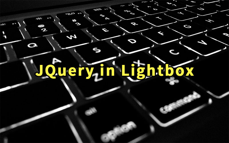 JQuery in Lightbox