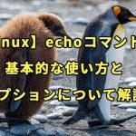 【Linux】echoコマンドの基本的な使い方とオプションについて解説