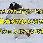 【Linux】telnetコマンドの基本的な使い方とオプションについて解説